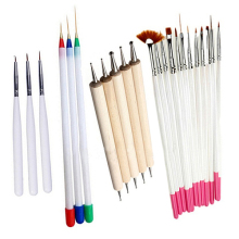 23 Pcs Nail Art Polish Painting Draw Pens Brush Tips Tools Set UV Gel Nail Brushes(China)