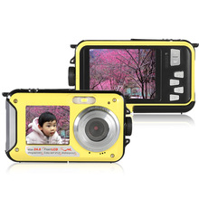 "Dual 2.7"" LCD HD Digital Camera 1080P 24MP 16X Zoom Anti-shake Video Camera Self-portrait Waterproof Camcorder Mini Camera(China)"
