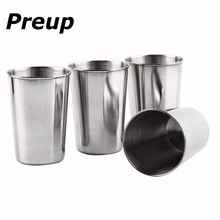 4Pcs 30ML 70ML 180ML Stainless Steel Camping Cup Mug Outdoor Camping Hiking Folding Portable Tea Coffee Beer Cup