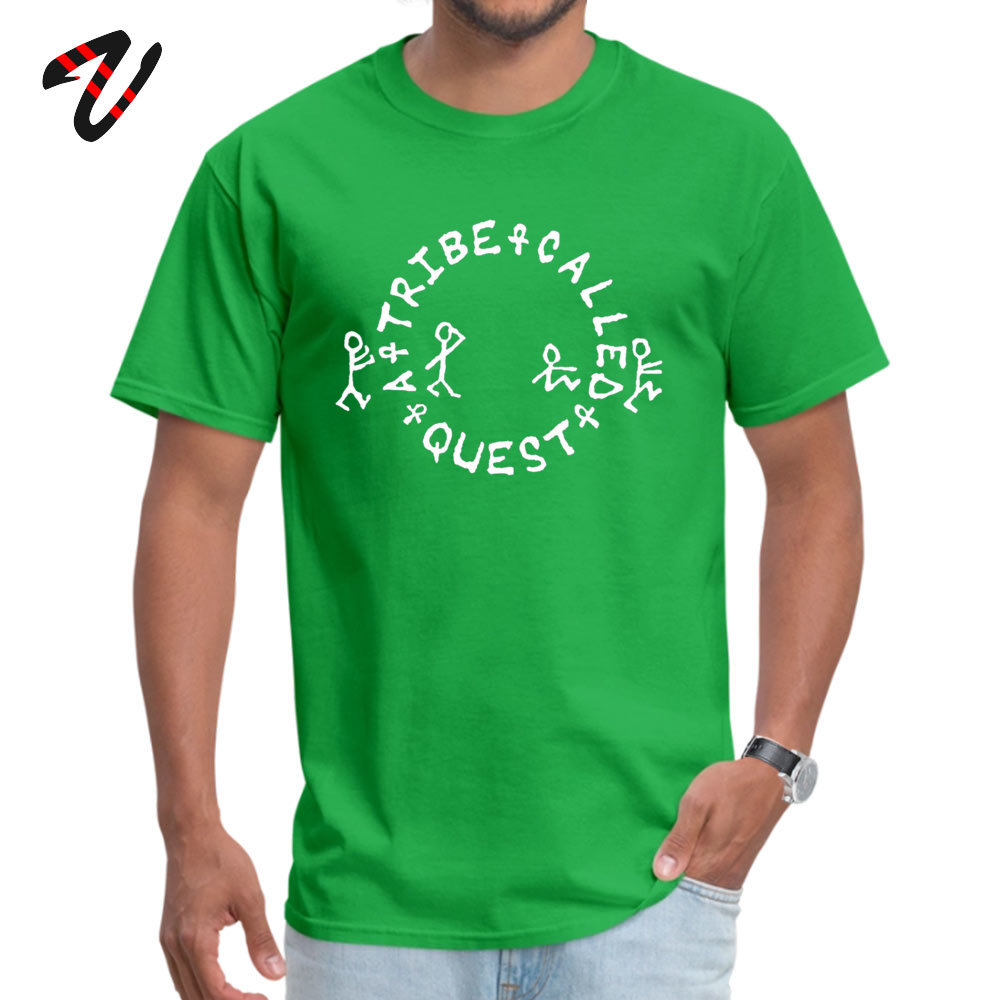tribe called All Cotton Men Short Sleeve Tops Tees Summer Summer Fall T-shirts Gift Tee Shirt Slim Fit Round Neck tribe called-13027 green