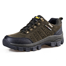 Men Hiking Outdoor Shoes Leather Boots Trekking Climbing Waterproof Shoes Man Sports Shoes Comfortable Plus Size 45 , 46 ,47
