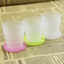 Portable Retractable Folding Plastic Cup Telescopic Collapsible Outdoor Travel-Y102