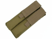 Tactical Nylon Molle P90 Double UMP Magazine Pouch Mag Bag Airsoft Outdoor Camouflage Military Hunting Accessories Black ACU MC(China)