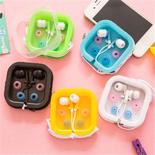 NEW Candy 5 Color 3.5mm In-Ear Earphone Earbuds Headset Earphones With Mic For MP3 MP4 SAMSUNG HTC Sony xiaomi