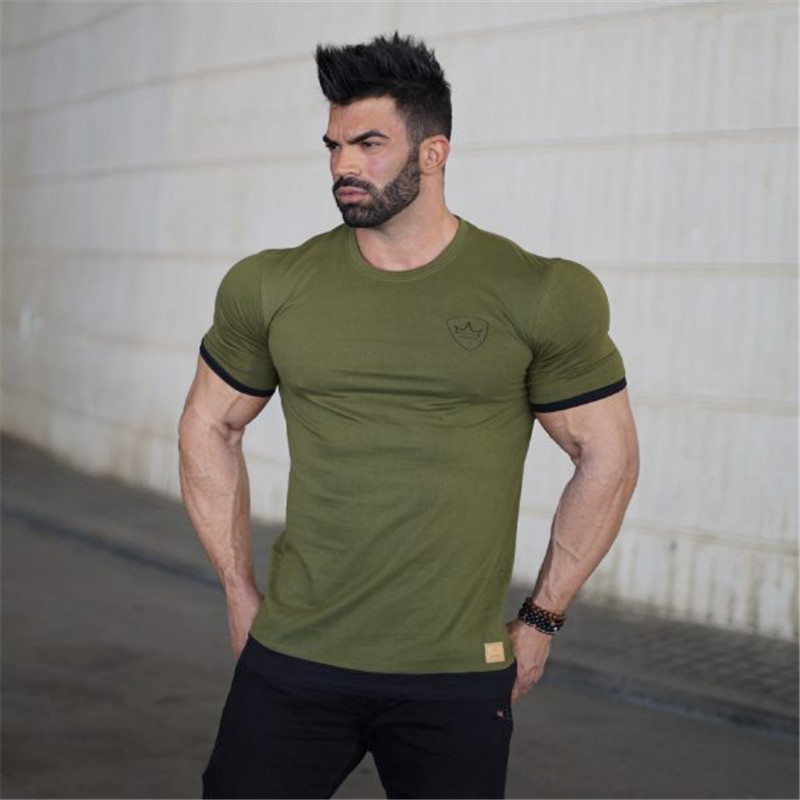 2017 Summer New Brand Fitness T Shirt Men Fashion Casual Bodybuilding Gyms Clothing Cotton Tees Tops Asian Size L In Shirts From S
