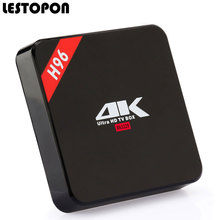 LESTOPON Android Tv Set Top Box OS 6.0 4K WIFI RK3229 Quad Core 32 Bit 8GB Flash HDMI 3D HD H96 Tvbox Television Media Player