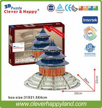 3D the Temple of Heaven(China) puzzle Children developmental DIY toys Educational items for kids