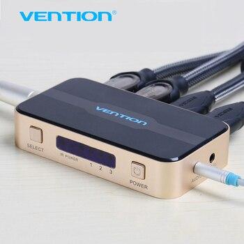 Vention 3 входа 1 выход HDMI Switcher Переключатель HDMI Splitter HDMI Кабель с Аудио для XBOX PS3 Smart HD 1080 P HDMI 3 Вход 1 Out