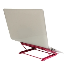 New Metal Lapdesks Laptop Stand Holder For Notebook Adjustable Portable Laptop Desk Lap Tray Bed Notebook Foldable Table Stand