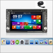 New universal Car Radio Double 2 Din Car DVD Player GPS Navigation In dash Car PC Stereo Head Unit video+Free Map Cam subwoofer(China)