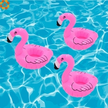 1PC Mini Flamingo Floating Inflatable Drink Can Cell Phone Holder Stand ForPool/Birthday/Wedding Party Decoration Kids Gift Toys