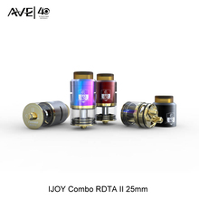 in stock IJOY Combo RDTA II 25MM Tank 6.5ml Electronic Cigarettes 12 Optional Decks Side Filling Design RDA Base 510 Thread Vape
