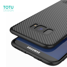 TOTU Phone Case For Samsung Galaxy S8 S8 Plus Coque Carbon Fiber Cover For Samsung S7 S7 Edge Luxury Soft Ultra Thin Capinha(China)