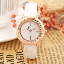 Relogio feminino Leather printing Analog Quartz Vogue Fashion women table Wrist Watch Feature Montre femme(China)