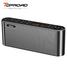 TOPROAD HIFI Bluetooth Speaker Portable Wireless Super Bass Dual Speakers Soundbar with Mic TF FM Radio USB Sound Box