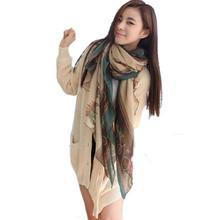 2017 Real Top Sales Women Lady Girls Soft Long Carriage Scarf Large Wrap Shawl Scarves silk scarf luxury brand 2017 sjaaltjes(China)