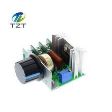 1 ШТ. AC 220 В 2000 Вт SCR Регулятор Напряжения Затемнения Диммеры Регулятор Скорости Термостат(China)