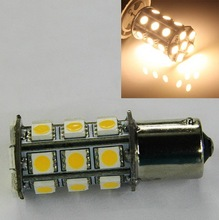 2 x 1156 BA15S Base Car 27 SMD LED Internal Bulb Light Lamp Warm White 280LM 12V