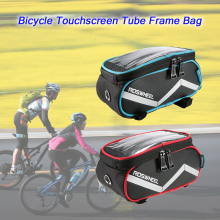 ROSWHEEL Bicycle Smart Phone Bag 6.2 inch Touch Screen Top Frame Tube MTB Road Bike Cycling Storage Bycicle Pouch Pannier