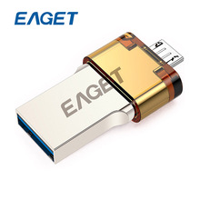 EAGET V80 64GB Metal OTG USB 3.0 Flash Drive 64 GB Pen Drive Pendrives with Encryption OTG for Android Smartphone