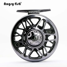 Angryfish Full Metal Fly Fishing Reel 2+1BB Aluminum Alloy Die Casting Fly Reel Fishing Reel with Large Arbor(China)
