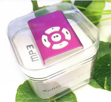 Mini clip mp3 player sport slot mp3 player memory card reader with TF card slot MP3+USB+Earphone+crystal Box