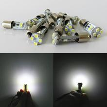 WLJH 10x Led Canbus BA9S 12V Light T4W H6W 3528SMD Bulb Indicators Auto Interior Side Market Lighting Lamp Car Light Error Free(China)