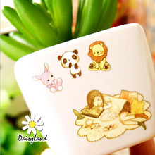 X06 Kawaii Hello Honey Elegant Little Girl Sticker Diary Notebook DIY Decor Stick Label Kids Stationery Paper Craft(China)