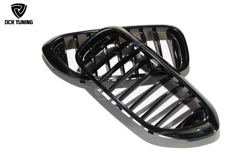Brand New Gloss Black M-Color Front Double Line Grille Grill For BMW G30 G38 2018 (2)