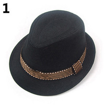 Short Brimmed Caps Unisex Kids' Fashion Cool Jazz Pitched Crown Short Brim Hat Cap Fedora Hat In Stock(China)
