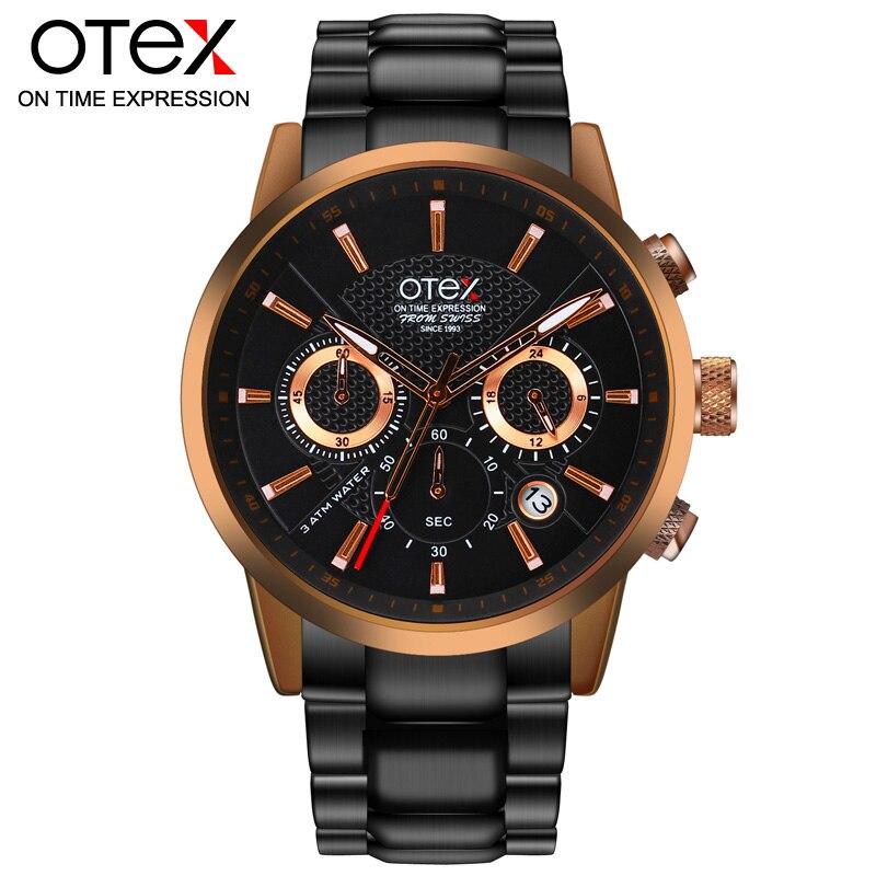Luxury brand watches men Business classic dress quartz wirst watch mens erkek kol saati waterproof 30M #OTEX  X1029<br>