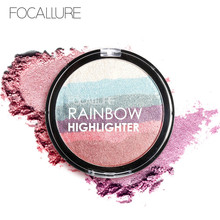 Focallure Highlighter Makeup Powder Rainbow Eyeshadow Pigments Bronzer Palette Shimmer Face Beauty Brand maquiagem(China)