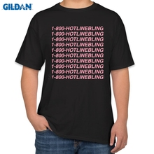 Pictures Funny T Shirt 1-800 Hotline Bling Tumblr Pink Funny Casual T-Shirt Man Brand Gildan Cotton Tee Shirt Homme Tops
