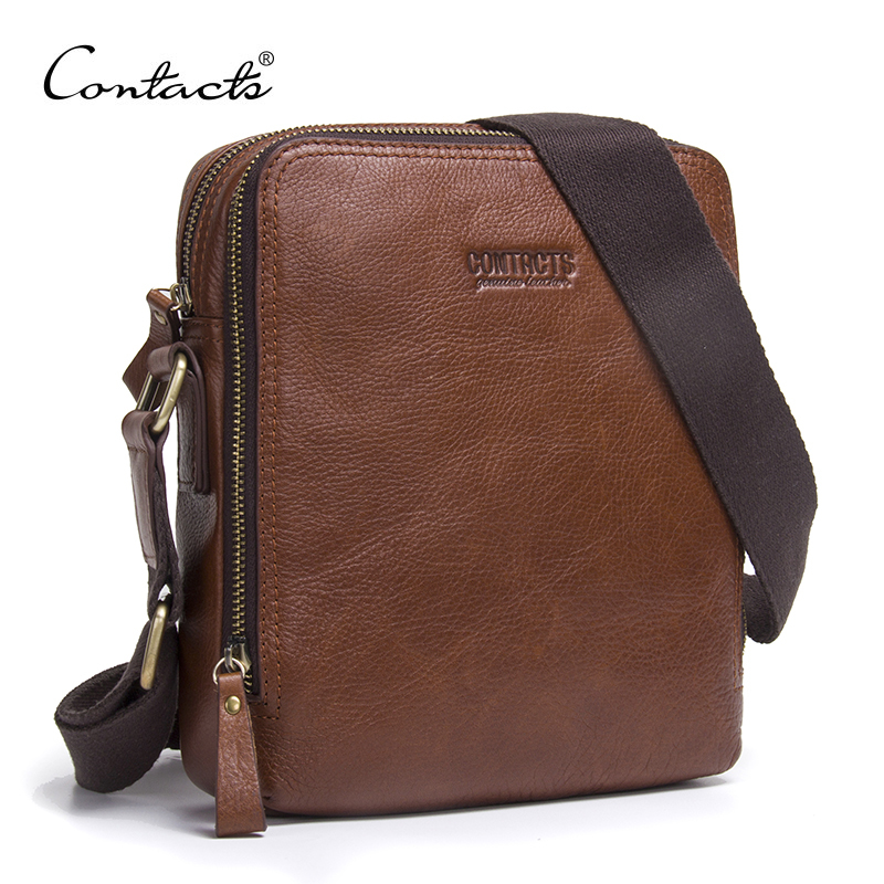 Fashion New Men Bags Men Shoulder Bag Quality Brand Design Genuine Leather Vintage Business Standard Commonly Use Messenger Bags<br>
