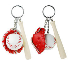 1 pc Softball Baseball Keychain Charm Pendant Decorative Key Chain Ring Fit keychain Bag Pendant(China)