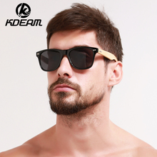 KDEAM Classical Bamboo Sunglasses Men Fashion Hand Made Eyewear Women Brand Designer Sun Glasses UV400 With Original case KD1501