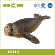 Recur Toys Seal Marine Life Simulation Model Hand Painted PVC Sea Life Figure Soft Animal Toys Christmas Gift Collection For Kid