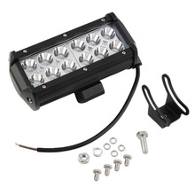 "7"" Inch 36W LED Work Drive Light Bar for Truck Trailer 4x4 4WD SUV ATV OffRoad Car Motorcycle Boat Spot Beam Lamp Bulb"