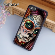 MaiYaCa Mexican Skull Girl Art soft mobile cell Phone Case Cover For Samsung Galaxy S7 Edge Custom DIY cases(China)
