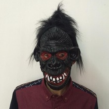 Black Gorilla Mask Full Face Halloween Props Costumes Dress Carnival Parties Cosplay Horror Masquerade Adult Ghost Mask