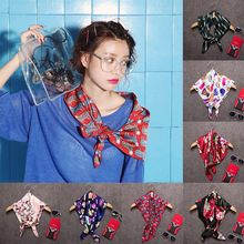8 color 2016 spring and autumn influx of new Korean fashion wild decorative 70*70 small square short scarf scarves female twilly