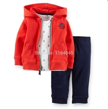 CLL2-017, Original, New Items, Baby Boys 2-Piece Hooded Cardigan Set, Spring And Autumn Wear,Super Quality,Free Shipping(China)
