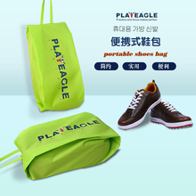 PLAYEAGLE Universal Golf Shoes Bag Waterproof PVC Shoe Bags 6 Colors Portable Travel Shoes Pouch(China)