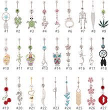 10 pieces mixed different belly button rings body jewelry navel ring sexy waist piercing registered postal service free shipping(China)