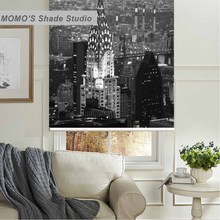 MOMO Thermal Insulated Blackout Fabric Custom Building Window Curtains Roller Shades Blinds,PRB set65-68
