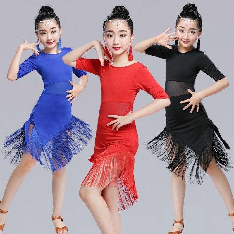 Women Girl Children Ballroom Latin Tassel Dance Skirt Wrap Dancewear Salsa Tango