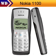 1100 Original Nokia 1100 Unlocked GSM 2G Mobile Phone Cheap Refurbished Good Nokia Cell Phone