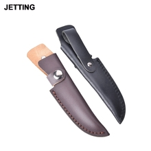 High quality knife sheath 18.5cm Leather sheath with waist belt buckle professional gift pocket Multi-function tool(China)