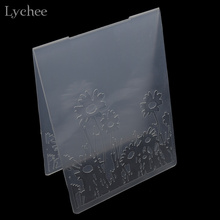 Lychee Plastic Embossing Folder For Scrapbook DIY Album Card Tool Plastic Template Stamp Sunflower Design Card Making Decoration