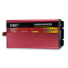 UKC 12V 4000W/4KW Modified Sine Wave Inverter 12V 220V/110V Car power inverter -with Battery Cable full protection